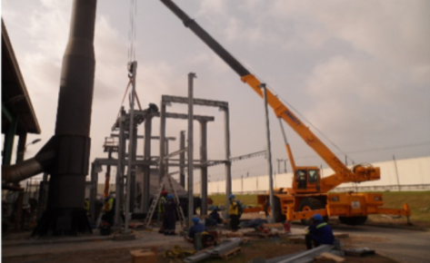 Case Study – Site Supervision & Construction Support for Boiler Canopy Steel Structure